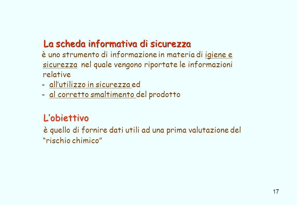 18 1.Identificazione della sostanza/preparato e della società/impresa 2.
