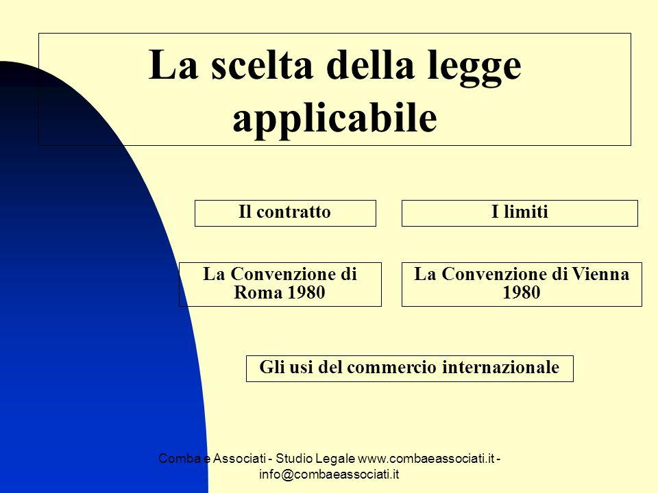 Comba e Associati - Studio Legale www.combaeassociati.it - info@combaeassociati.it Larbitrato commerciale Chi è un arbitro.