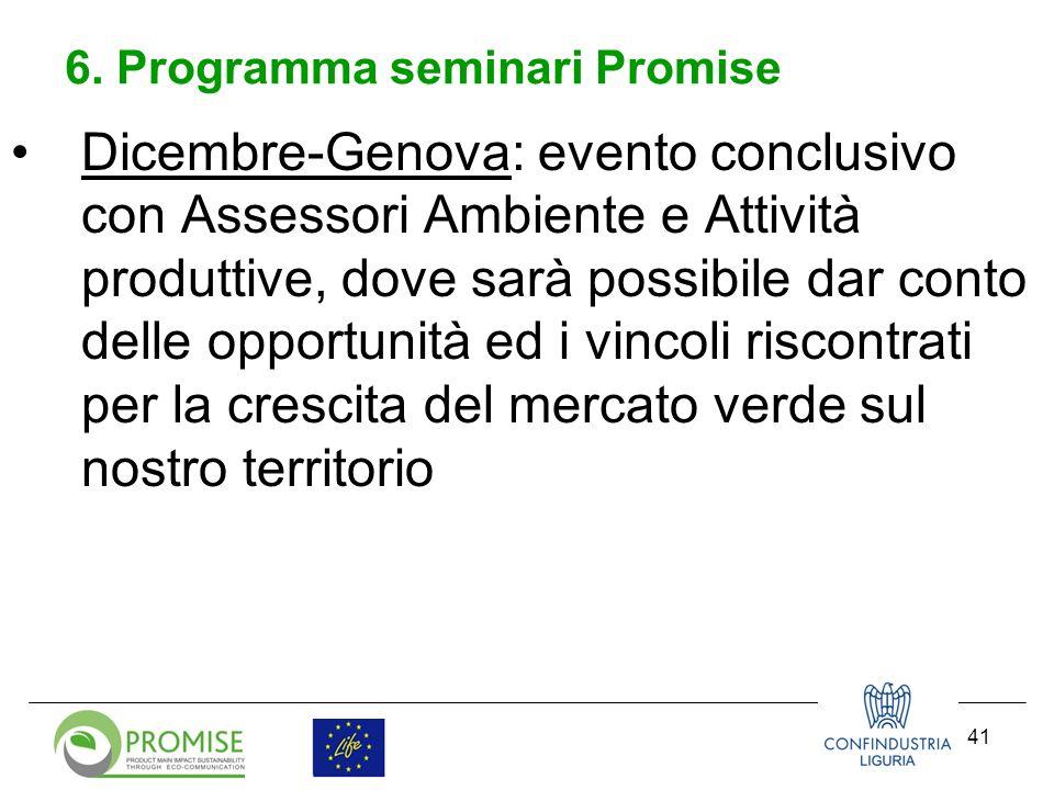 42 Sito progetto PROMISE: www.lifepromise.it Email : vcanepa@confindustria.ge.itvcanepa@confindustria.ge.it Grazie per lattenzione Riferimenti