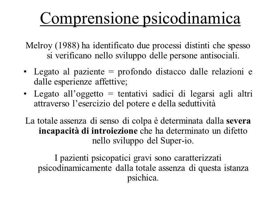 Super-io patologico La struttura patologica del Super-io può essere evidenziata dalla completa mancanza di sforzi per giustificare comportamenti antisociali.