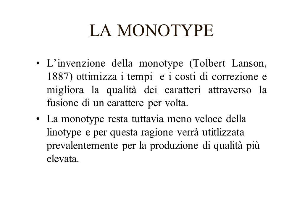 LA FOTOCOMPOSIZIONE 1 Alla fine degli anni 60 la sempre maggiore velocità delle macchine da stampa spinge la ricerca di nuove e più veloci modalità di composizione.