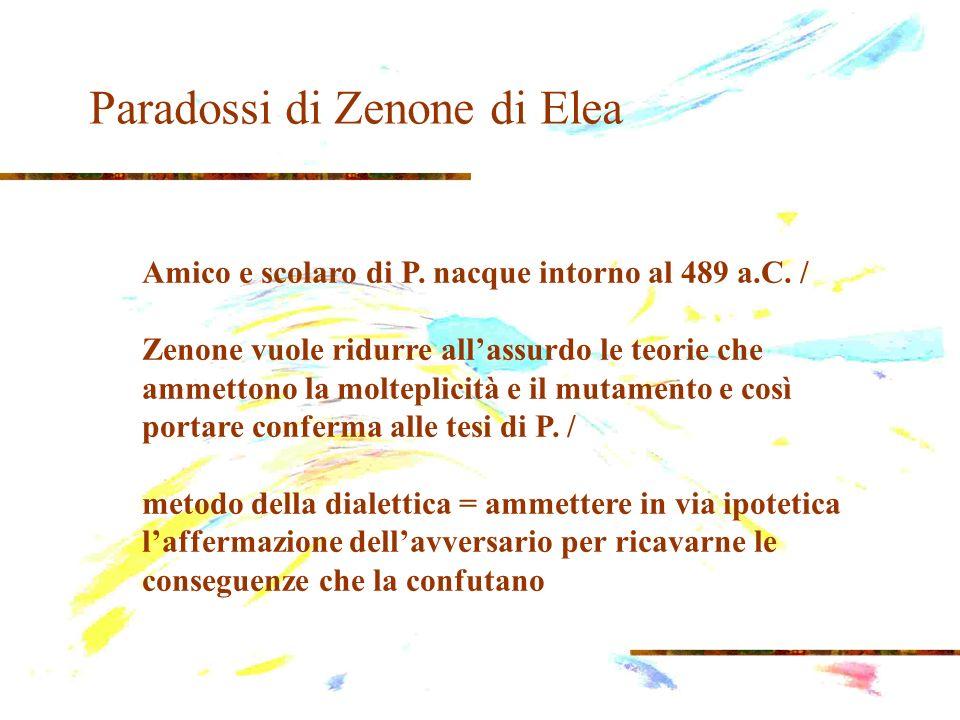 Paradossi di Zenone di Elea 1.
