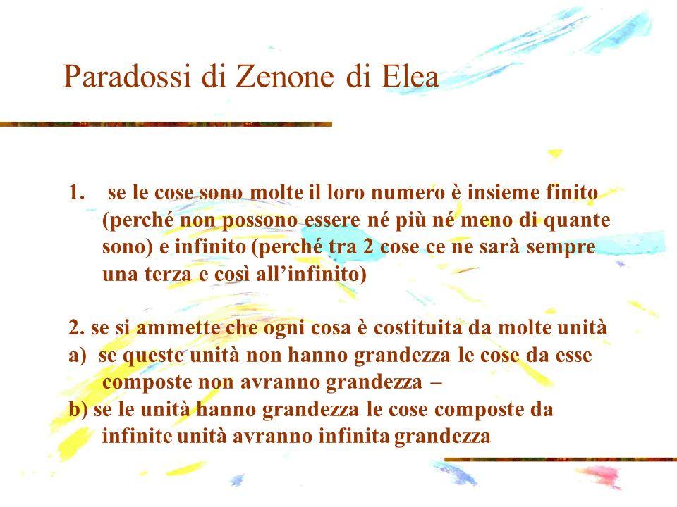 Paradossi di Zenone di Elea il paradosso di Achille egli, pur essendo il piè veloce, non raggiungerà mai una tartaruga partita prima di lui.