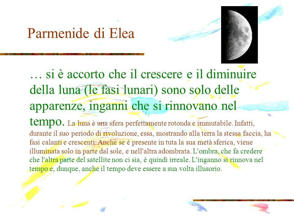 Parmenide di Elea Parmenide è un razionalista radicale, che trova la verità solo percorrendo la via della dimostrazione logica, ripudiando l osservazione empirica.