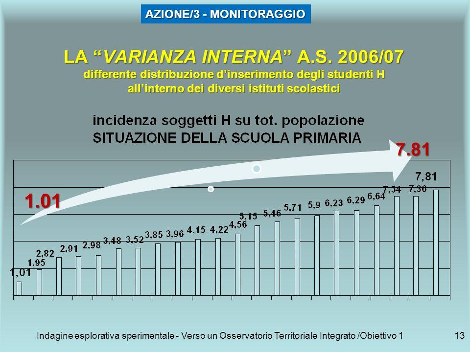 Indagine esplorativa sperimentale - Verso un Osservatorio Territoriale Integrato /Obiettivo 113 LA VARIANZA INTERNA A.S.