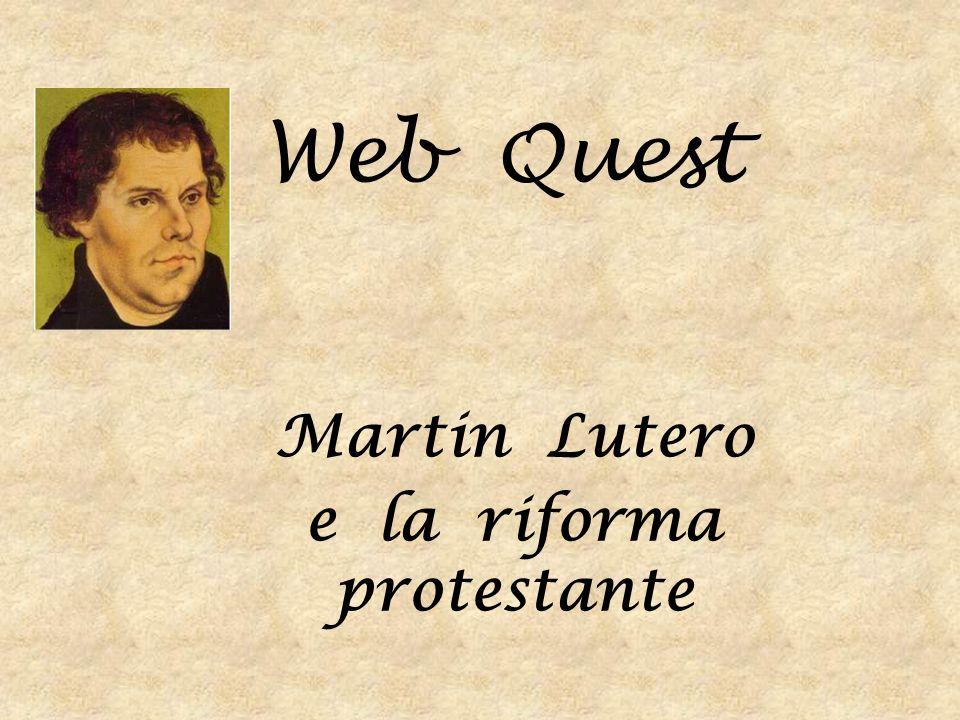 Inizia questa avventura, attraverso la scoperta dei tempi e dei luoghi che Martin Lutero ha vissuto, le scelte da lui operate, le difficoltà affrontate