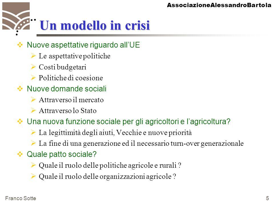 AssociazioneAlessandroBartola Franco Sotte 6 Perché una analisi di prospettiva al 2015-2020.