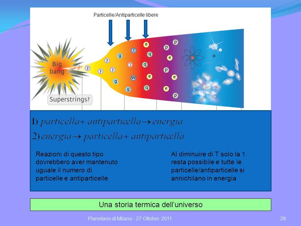 29Planetario di Milano - 27 Ottobre 2011 Ma lUniverso non è vuoto.