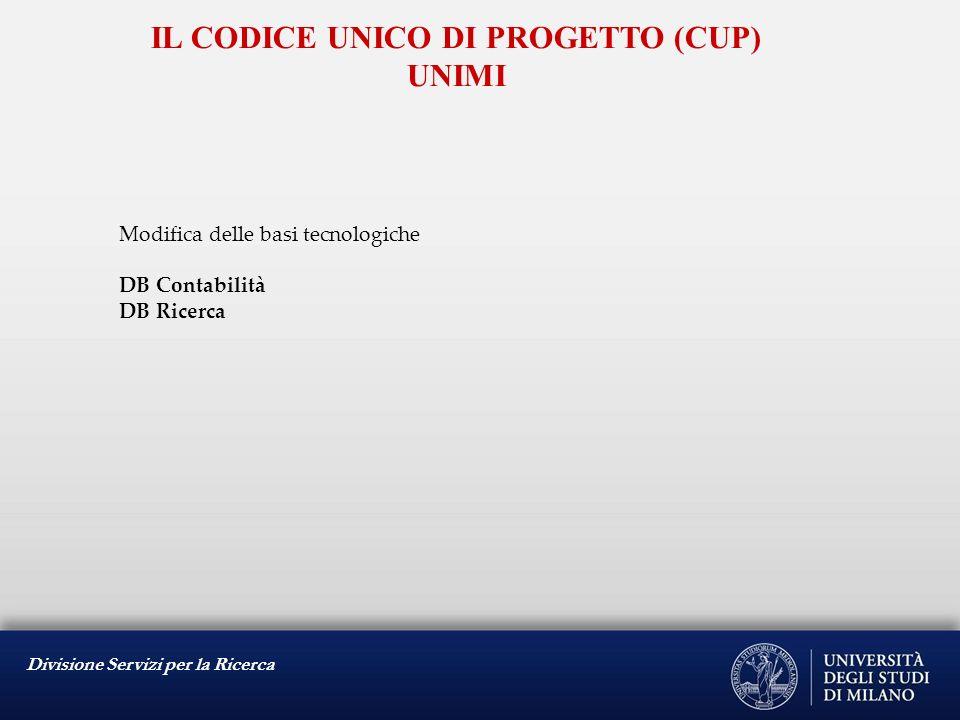 Divisione Servizi per la Ricerca IL CODICE IDENTIFICATIVO GARA (CIG) 136/2010 – dl 187/210 – Linee guida AVCP Art.