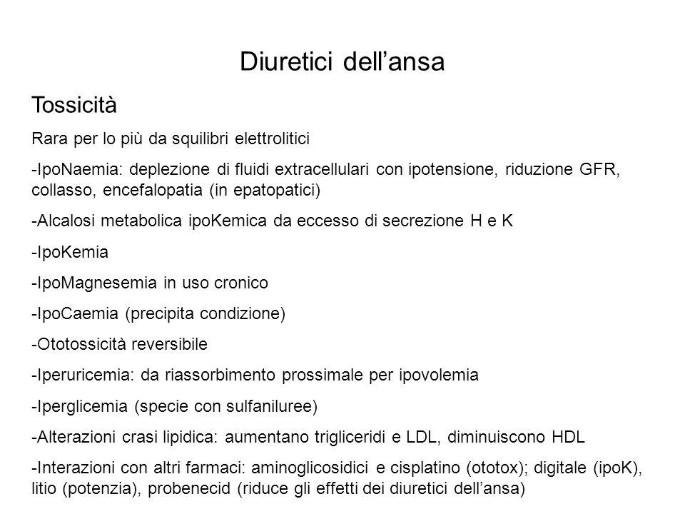 TUBULO DISTALE Riassorbimento del 10% del Na filtrato e poco permeabile all acqua Sistemi di trasporto In membrana apicale cotrasporto NaCl (d.