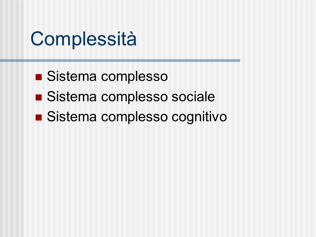 Sistema complesso