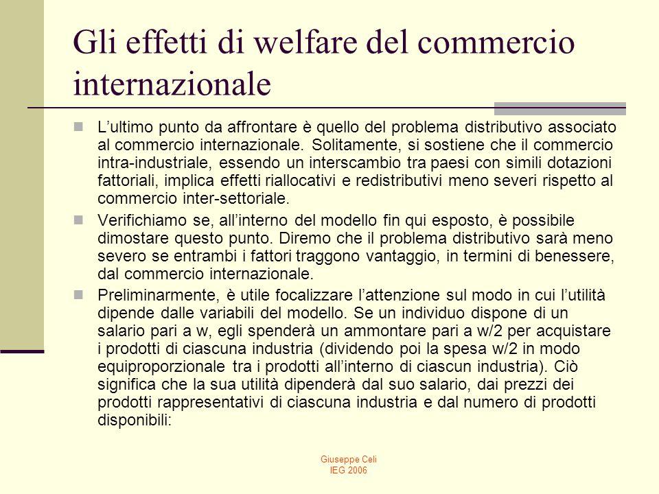 Giuseppe Celi IEG 2006 Gli effetti di welfare del commercio internazionale (17) (18)