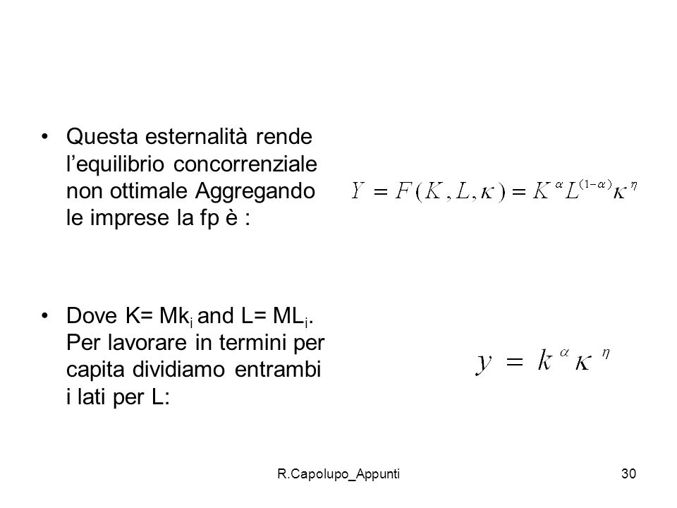 R.Capolupo_Appunti31 soluzione Le imprese max una f. di utilità sotto il vincolo