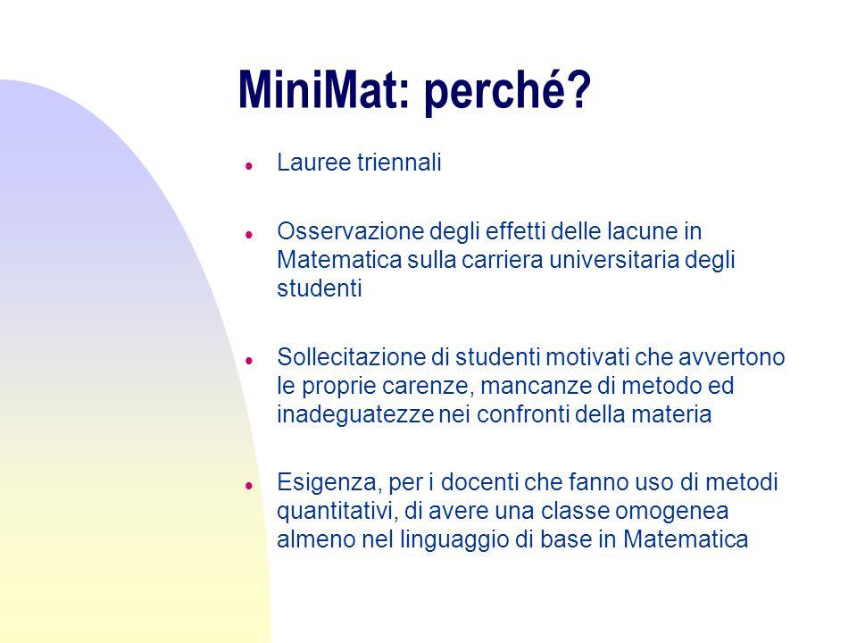 MiniMat: per chi.