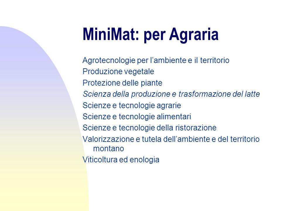 MiniMat: per Scienze M.F.N.