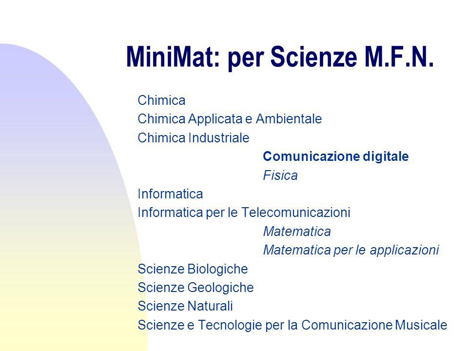 MiniMat: per Scienze Politiche Economia Europea Organizzazione e risorse umane Scienze dell amministrazione Scienze Politiche