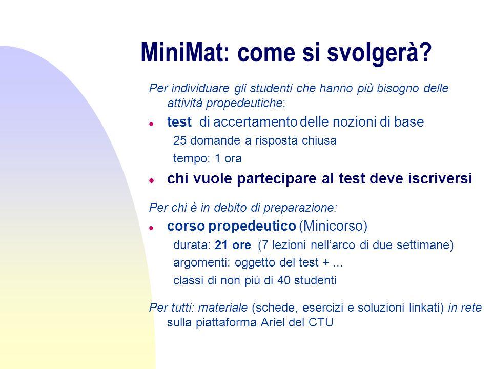 MiniMat: quando.