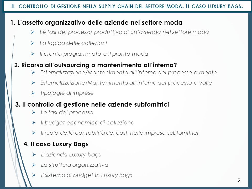 L' ASSETTO ORGANIZZATO DELLE AZIENDE NEL SETTORE MODA 3