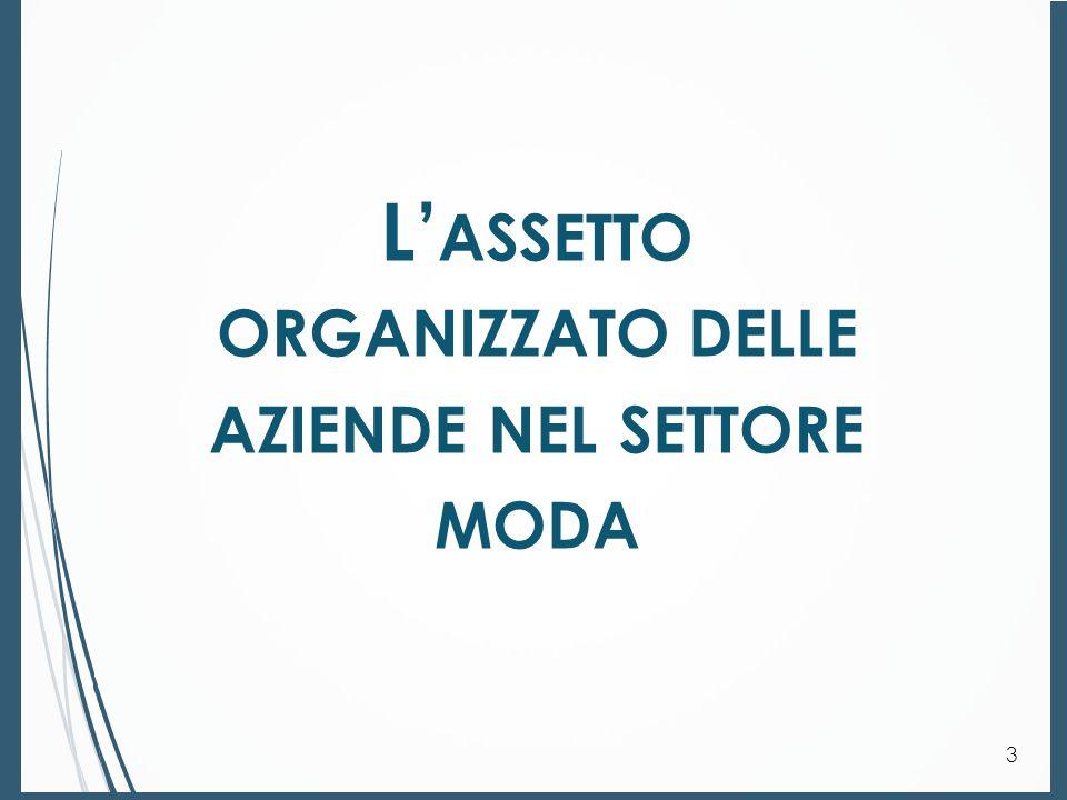 L' ASSETTO ORGANIZZATIVO DELLE AZIENDE NEL SETTORE MODA.