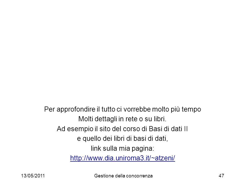 Grazie! 13/05/2011Gestione della concorrenza48