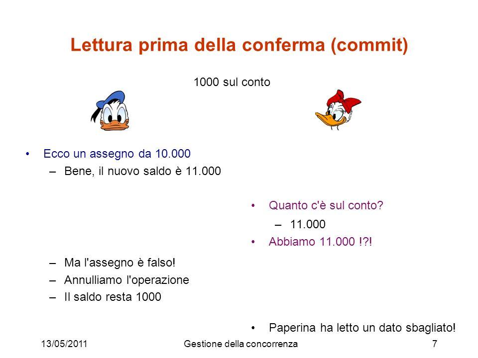 13/05/2011Gestione della concorrenza8 La concorrenza va governata: –va permessa per favorire l efficienza –ma limitata, per evitare i problemi