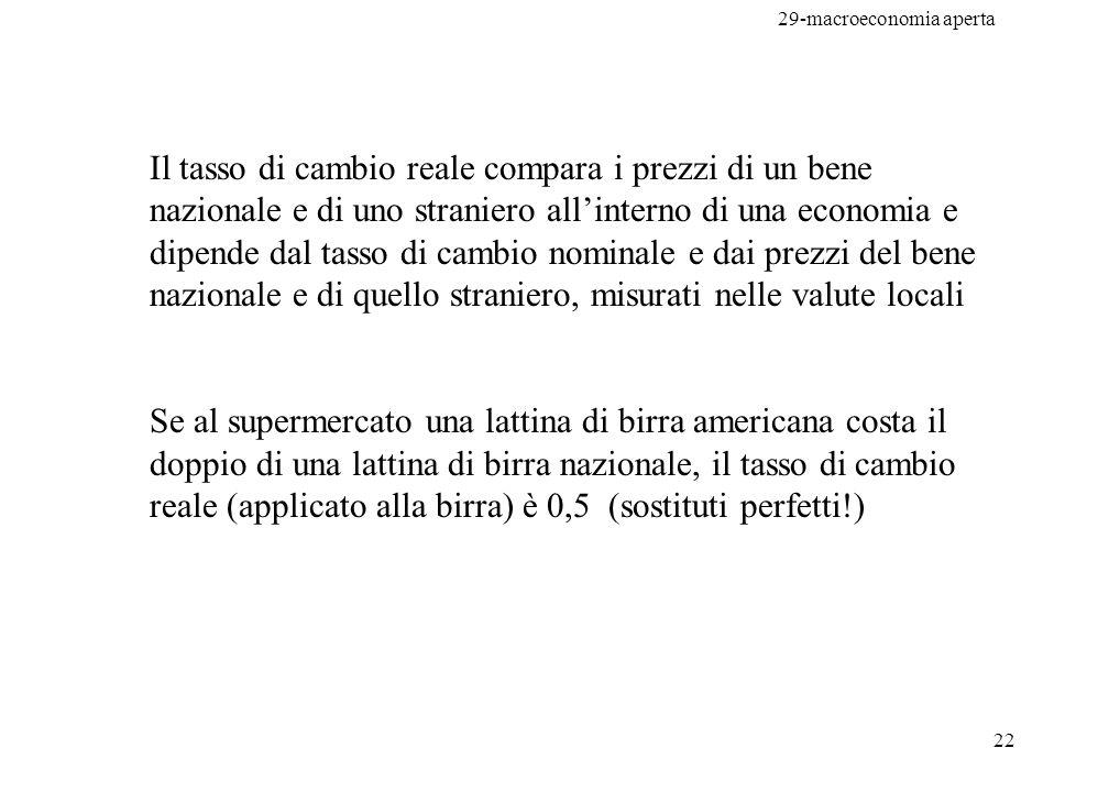 29-macroeconomia aperta 23 Prezzo riso in Italia: 100 / ton.