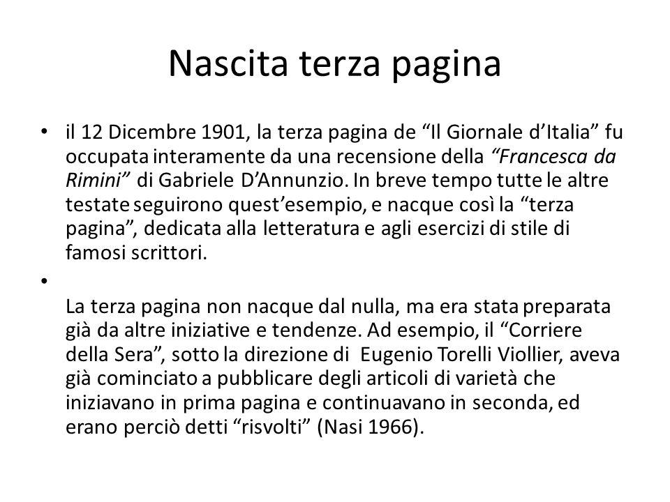 Murialdi Fascismo >> censura e retorica(colore) Secondo Dopoguerra : la reazione alla retorica del regime colpì soprattutto la terza pagina e il giornalismo letterario, che attraversarono un periodo di seria crisi.