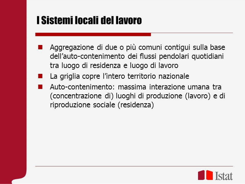 La fonte censuaria 1971: introduzione del quesito, spoglio lasciato alliniziativa delle Regioni (Irpet Toscana 1978) Dal 1981 elaborazione dei SLL 955 nel 1981 784 nel 1991 686 nel 2001