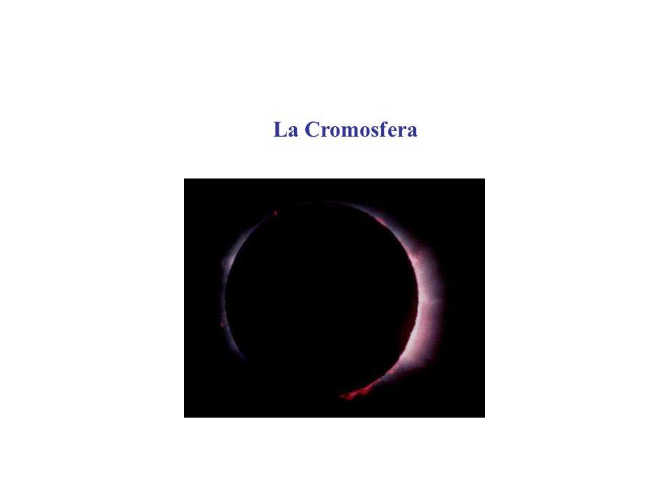 La Cromosfera vista in luce H Le regioni di più intensa emissione dellHa coincidono, nella maggior parte dei casi con le macchie solari.
