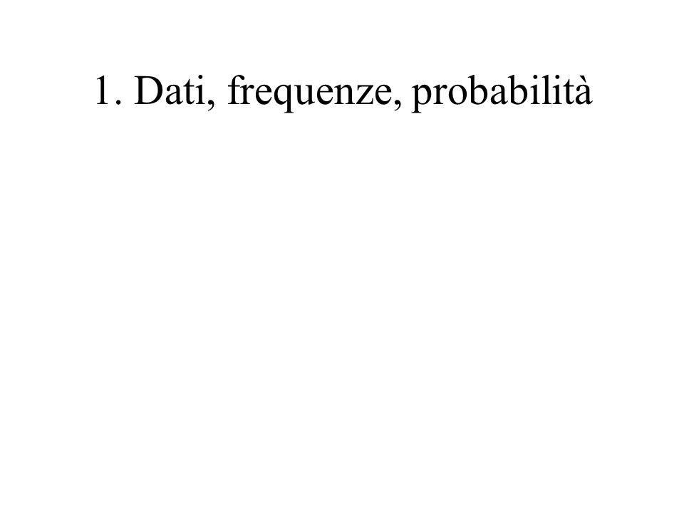 1. Dati, frequenze, probabilità
