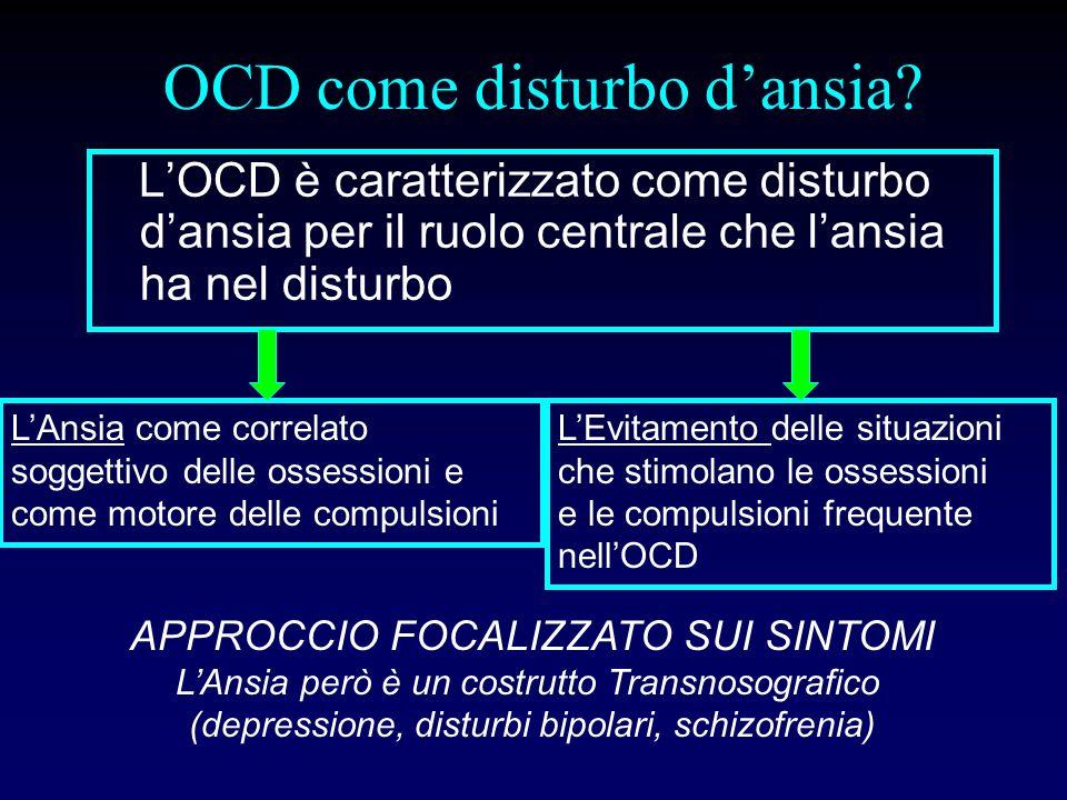 OCD è un disturbo dansia.