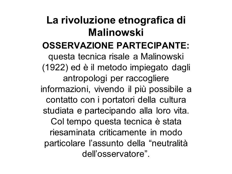 La rivoluzione etnografica di Malinowski La pubblicazione dei diari segreti e i problemi epistemologici della ricerca sul campo