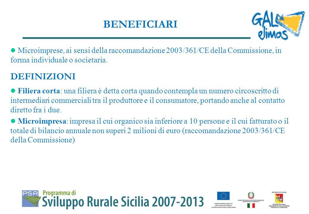 Microimprese, ai sensi della raccomandazione 2003/361/CE della Commissione, in forma individuale o societaria.