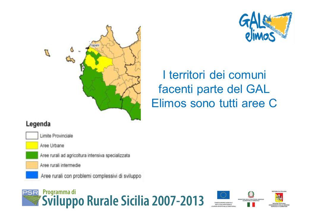 I territori dei comuni facenti parte del GAL Elimos sono tutti aree C