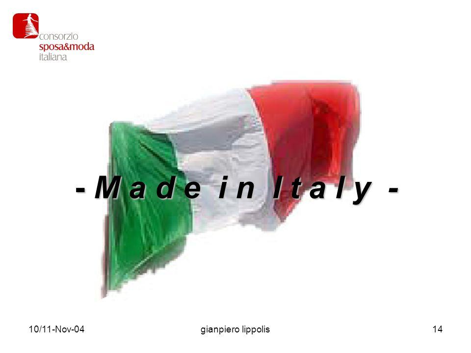 10/11-Nov-04gianpiero lippolis15 Il Made in Italy aiuta la crescita dell Italia e dell industria italiana.