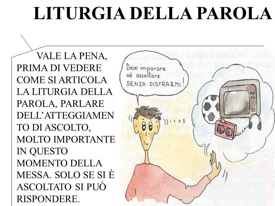 1.PRIMA LETTURA 2. SALMO RESPONSARIALE 3. SECONDA LETTURA 4.