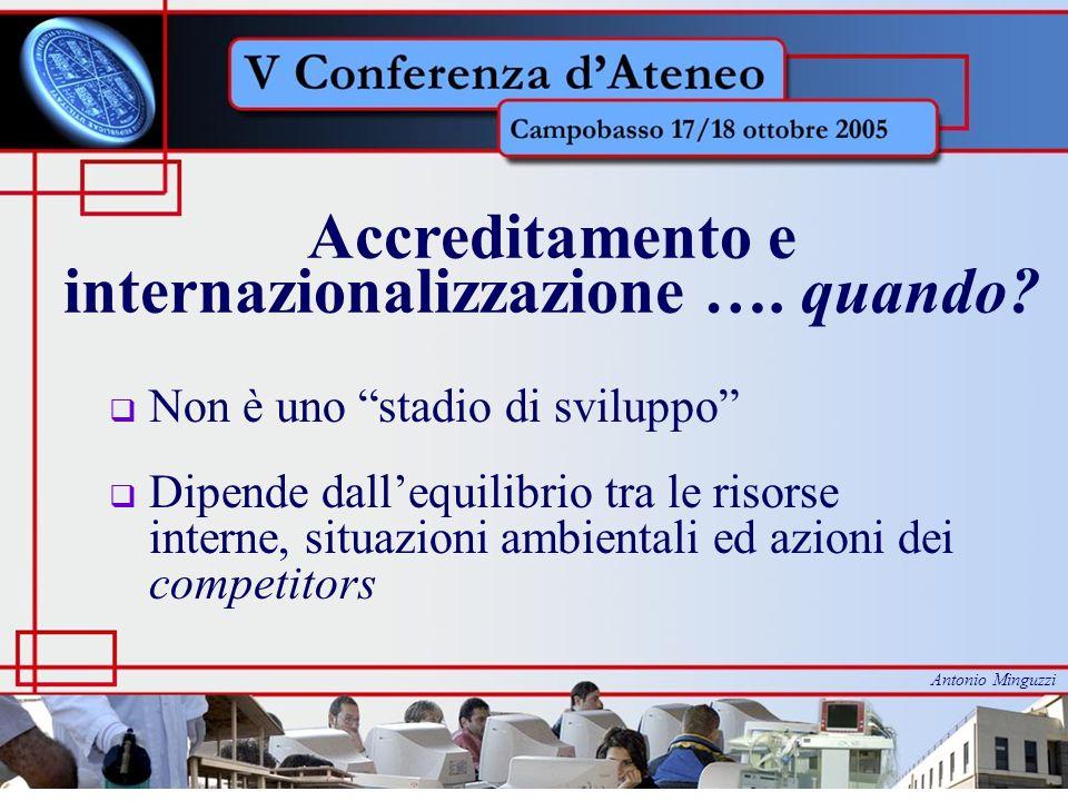 Accreditamento e internazionalizzazione ….come.