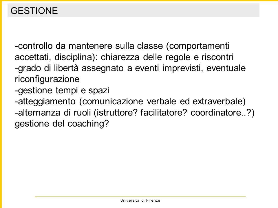 Università di Firenze cosa ha funzionato, cosa no.