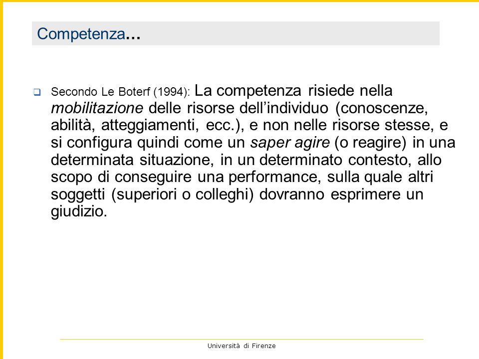 Università di Firenze che cosa so dellallievo.