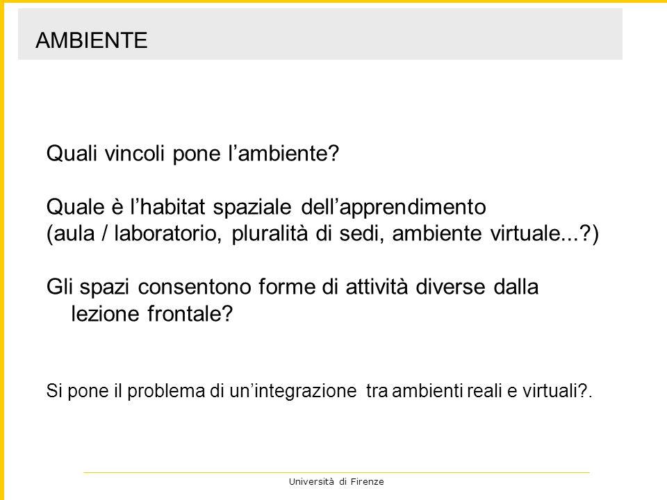 Università di Firenze Es.
