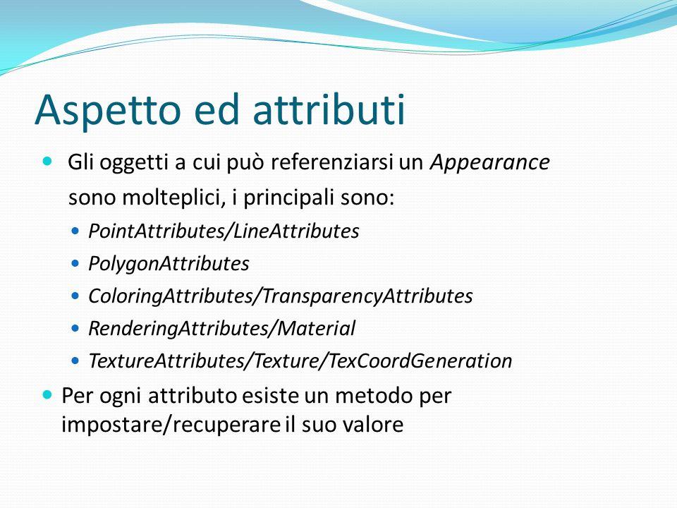 Classe Behavior In Java3D sia le animazioni sia le interazioni sono definite utilizzando la classe Behavior.
