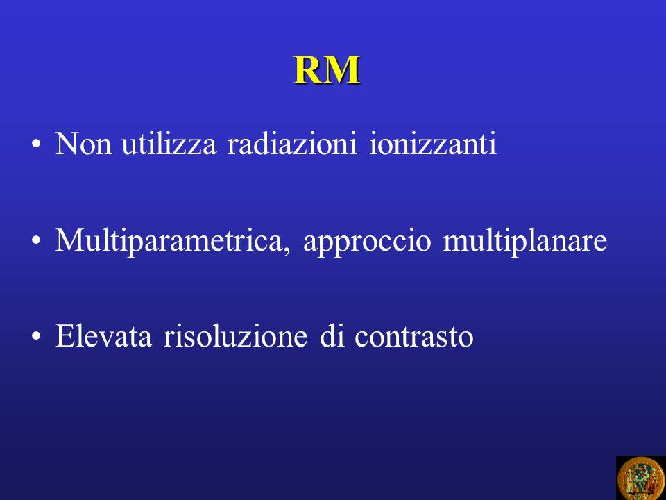 FASI DI ESECUZIONE ESAME RM Il paziente è posto in un magnete E inviato impulso RF (onde e.m.