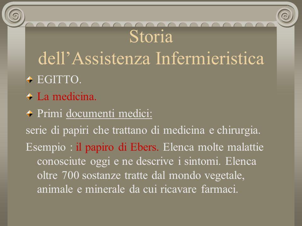Storia dellAssistenza Infermieristica EGITTO.Papiro di Smith: riguarda la chirurgia.