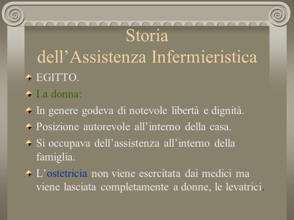 Storia dellAssistenza Infermieristica EGITTO.
