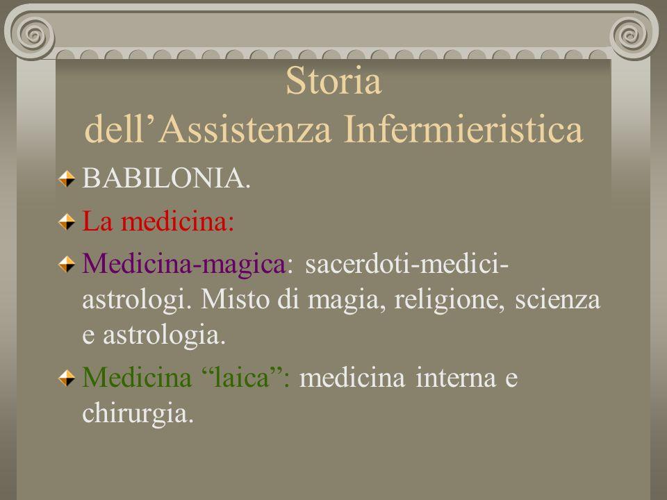 Storia dellAssistenza Infermieristica BABILONIA.La società.