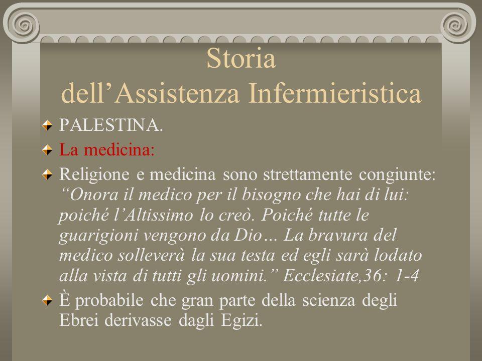 Storia dellAssistenza Infermieristica PALESTINA.La società.