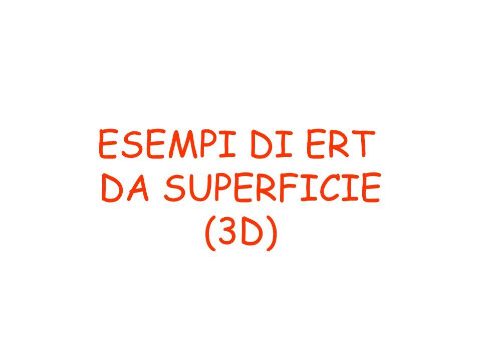 Esempi 3D ERT da superficie