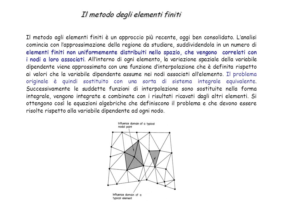 Le prime formulazioni matematiche per i modelli agli elementi finiti erano basate su tecniche variazionali.