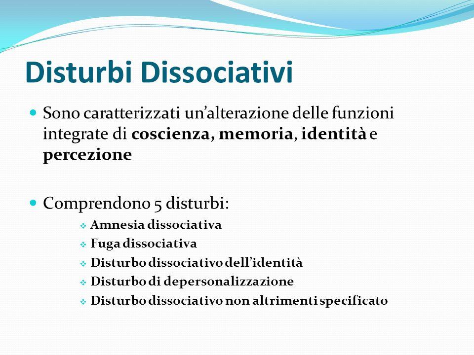 Disturbi Sessuali e della Identità di Genere Comprendono 3 categorie di disturbi: 1.