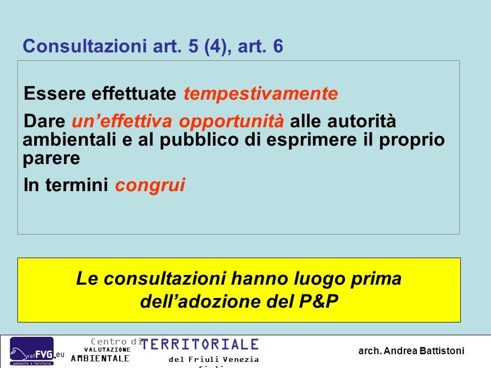 Consultazioni transfrontaliere art.